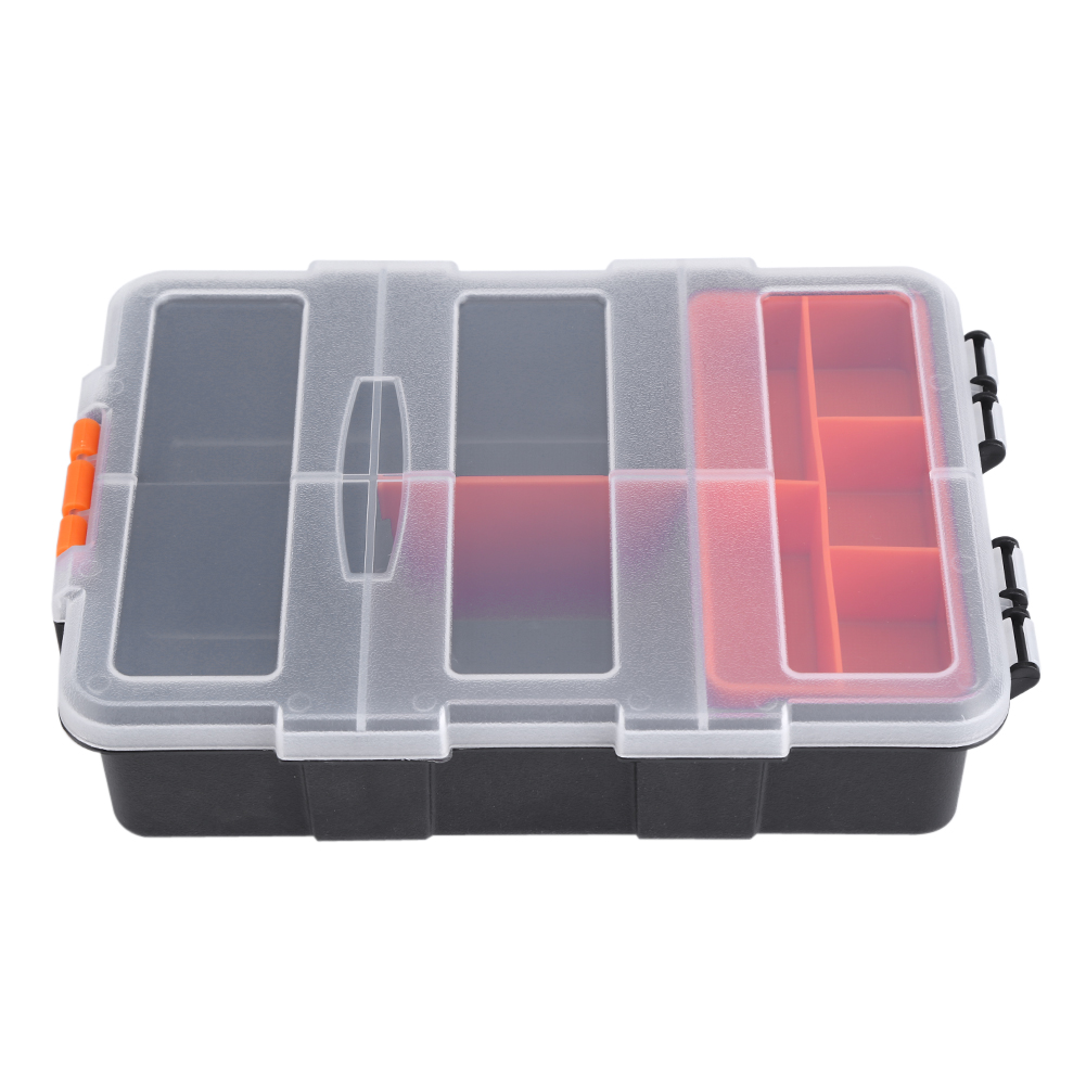 Two-layer Plastic Heavy-duty Components Storage Box Case Organizer Small Parts Tool Box,Components Storage Box, Two-layer Storage Box