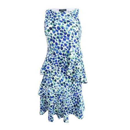 Lauren by Ralph Lauren Women's Ruffled Crepe Dress