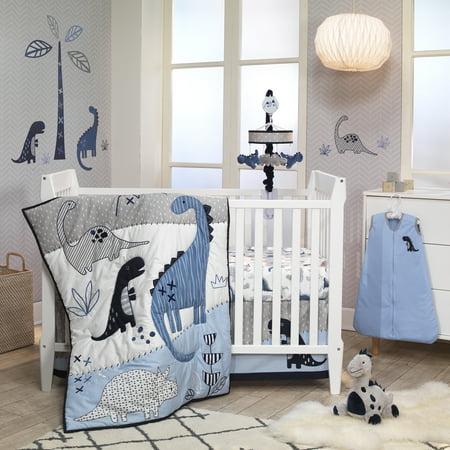 Lambs Amp Ivy Baby Dino Blue White Dinosaur Nursery 6 Piece