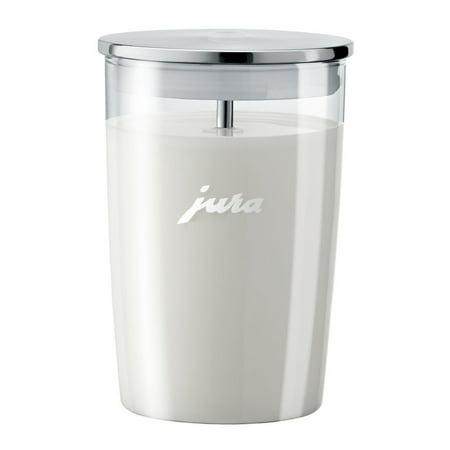 Jura Glass Milk Container (16.9 oz.) (Silver Crest Milk Glass)