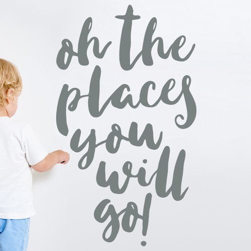 Wallums Wall Decor Oh the Places You Will Go Wall Decal