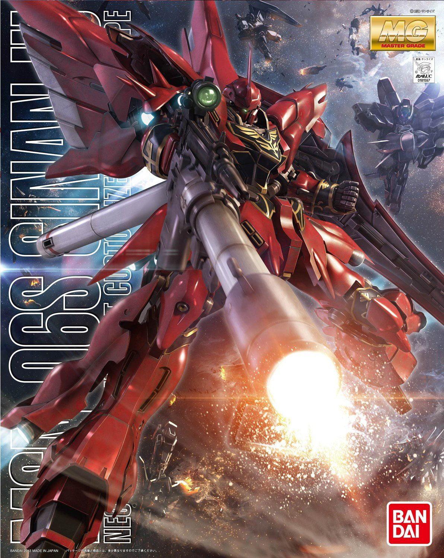 Bandai Hobby Gundam Unicorn MSN-06S Sinanju Animation Color MG 1 100 Model Kit by Bandai Hobby