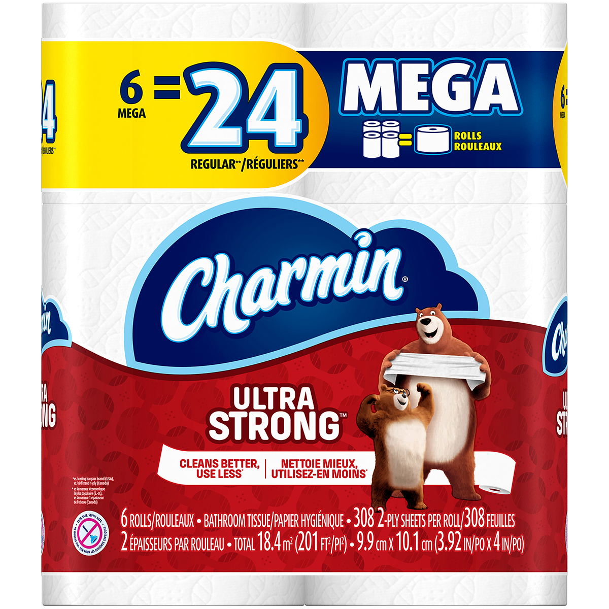 Charmin Ultra Strong Toilet Paper, 6 Mega Rolls by Procter & Gamble