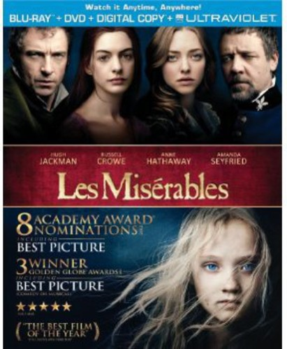 Les Miserables (Blu-ray + DVD + Digital Copy)