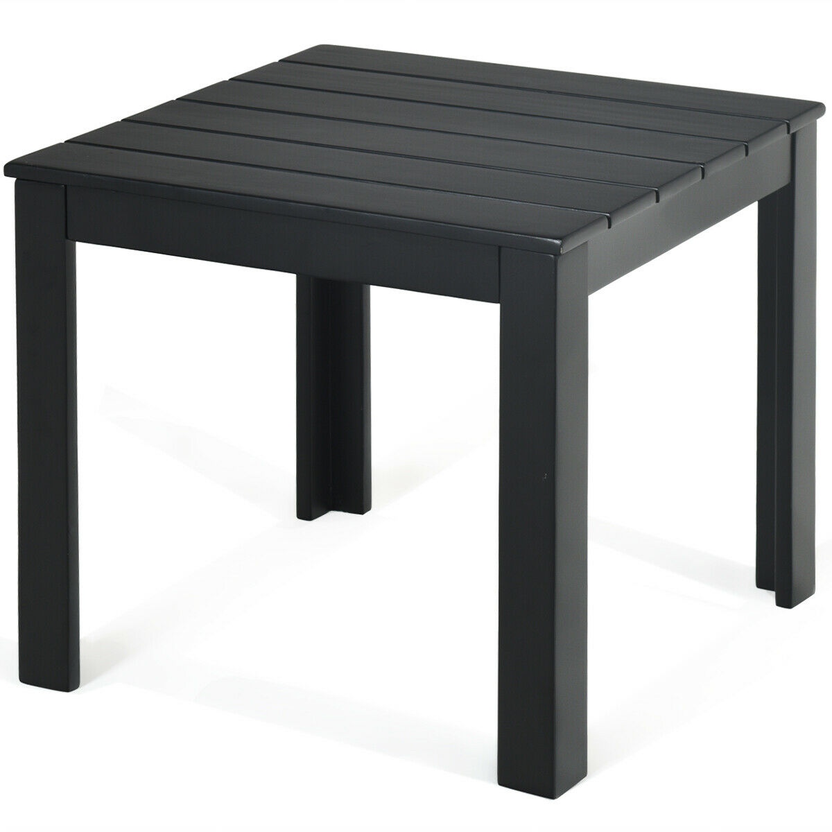 Picture of: Gymax 2pcs Wooden Square Side End Table Patio Coffee Bistro Table Indoor Outdoor Black Walmart Com Walmart Com