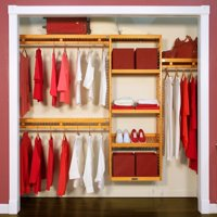 John Louis Home Simplicity 12' 6'-10' Shelving System - Honey Maple
