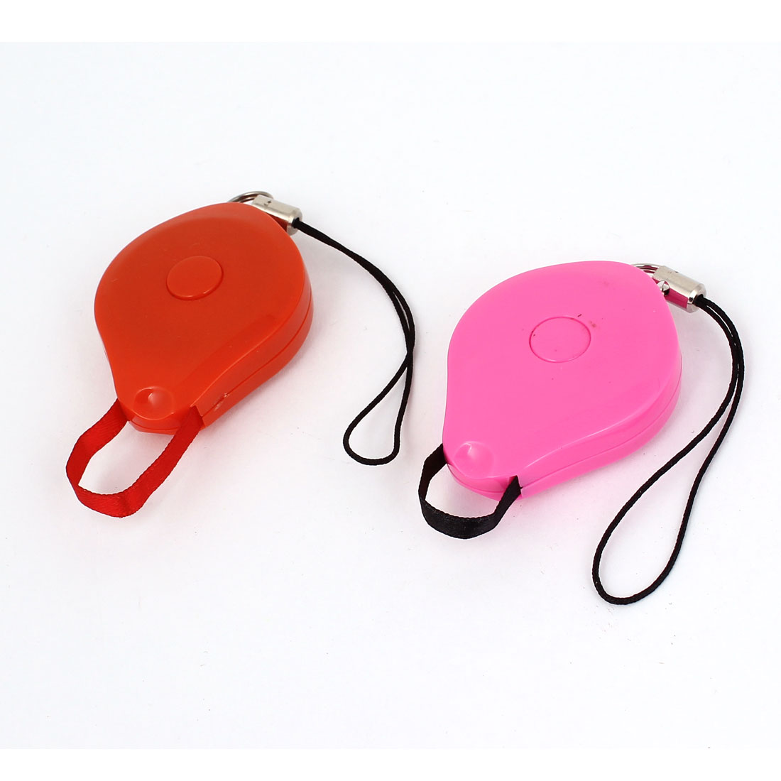 2pcs Retractable Lanyard Strap Reel ID Card Badge Holder Buckle Pink Red