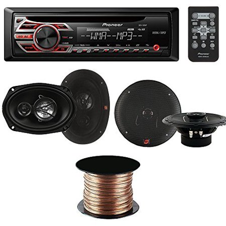 300w Compact (Pioneer DEH-150MP Single-DIN Car Stereo CD Receiver + Cerwin-Vega XED62 300W 6.5