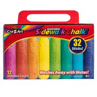 Cra-Z-Art Washable Sidewalk Chalk, 32 Count