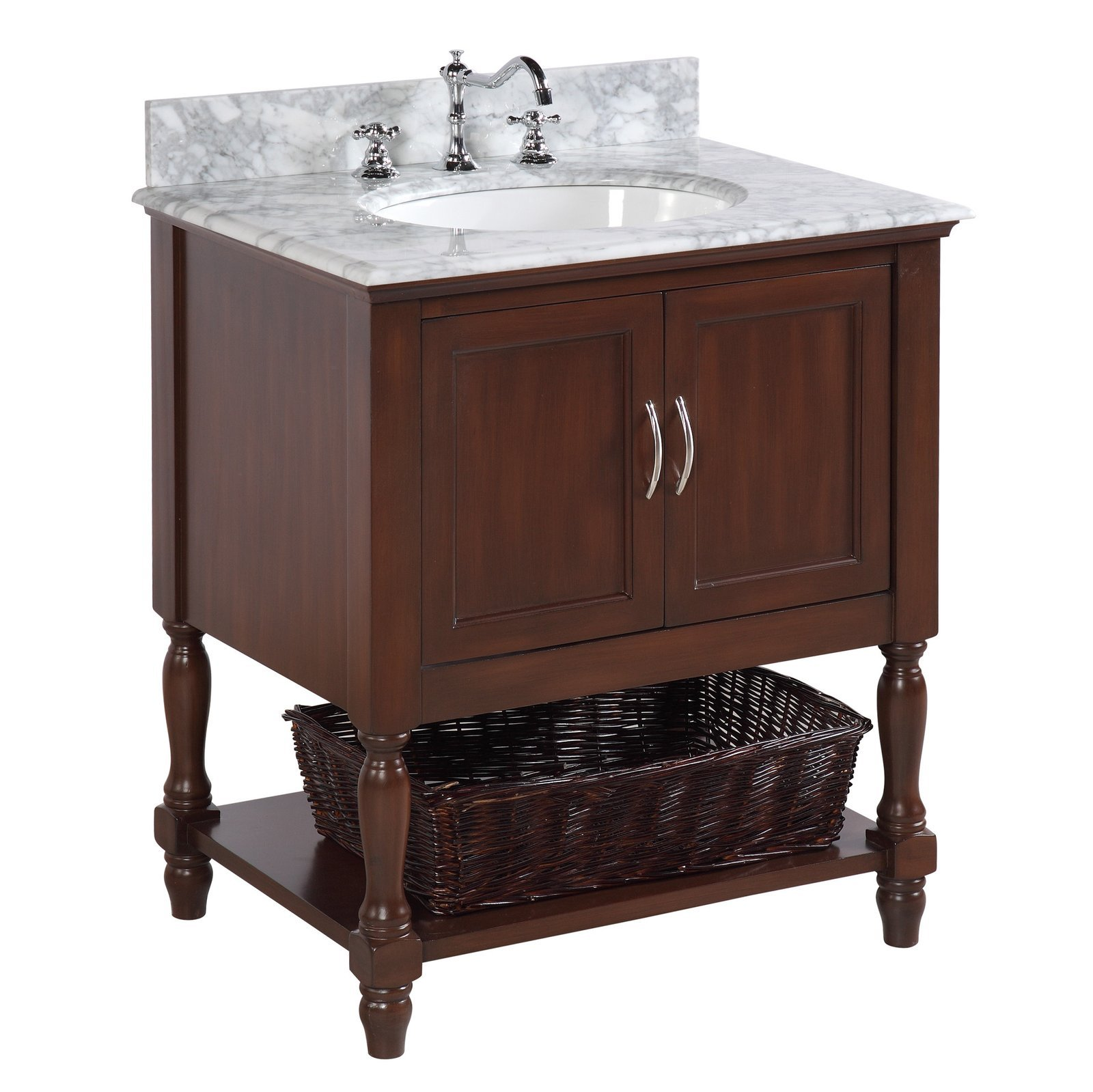 "Beverly 30"" Bathroom Vanity with Chocolate Cabinet ..."