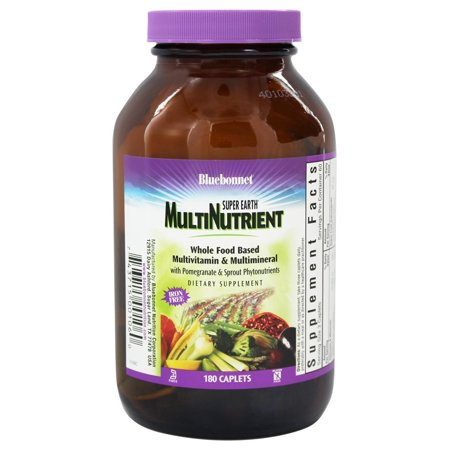 Bluebonnet Nutrition - Super Earth Multinutrient Formula Iron-Free - 180 Caplets