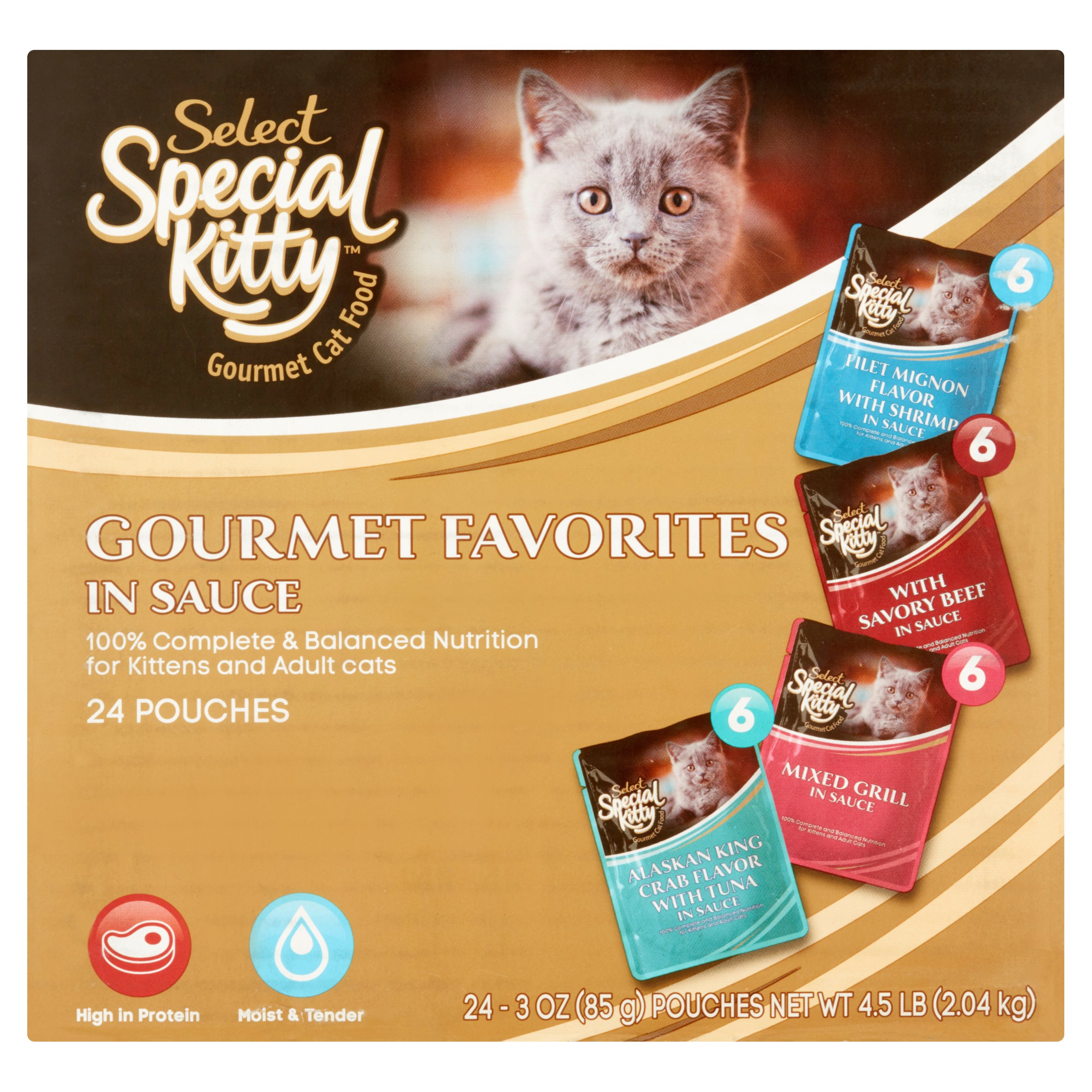 (2 pack) Special Kitty Select Gourmet Variety Pack Wet Cat Food- (24) 3-oz. Pouches