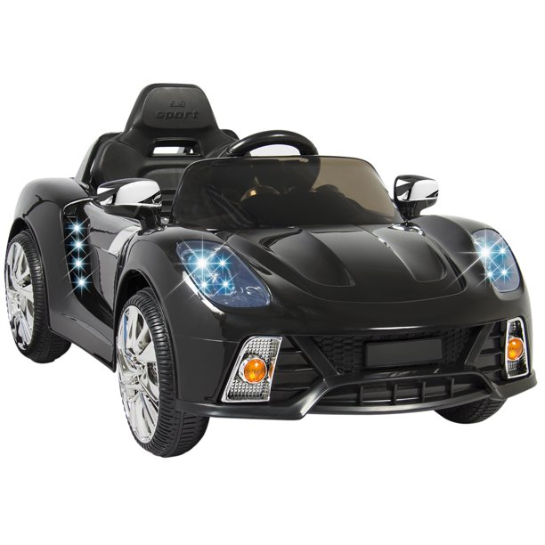 Best Choice Products 12v Kids Battery Powered Remote Control Electric Rc Ride On Car W Led Lights Mp3 Aux Black Walmart Com Walmart Com