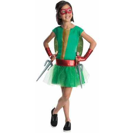 Teenage Mutant Ninja Turtles Deluxe Raphael Girl Tutu Girls' Child Halloween Costume - Girl Ninja Costume For Halloween