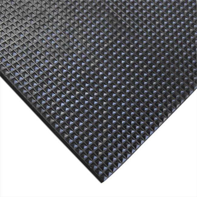 Rubber-Cal Super-Grip Scraper Rubber Runner Mat - Black, 120 x 48 x 0.19 in. - image 1 of 1