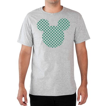 Men's Mickey Mouse Icon Big & Tall T-Shirt Short Sleeve Gray