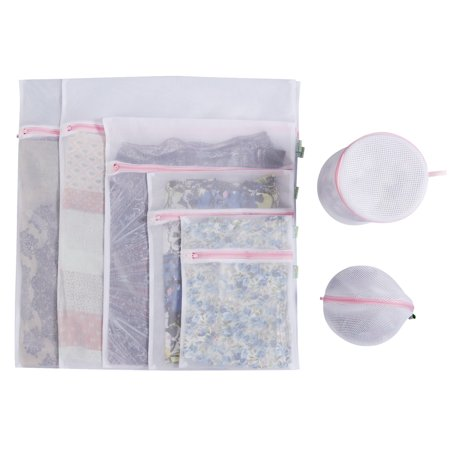 Lifewit 7 Pack Mesh Laundry Bag Durable Delicates Wash Travel Zipper Bags