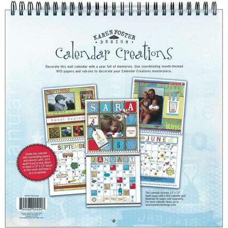 Wall Calendar Scrapbook Pages