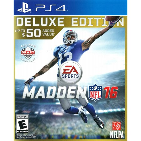 Madden NFL 16 Deluxe Edition (PS4) (Ea Sports Controller With Two Tv Games)