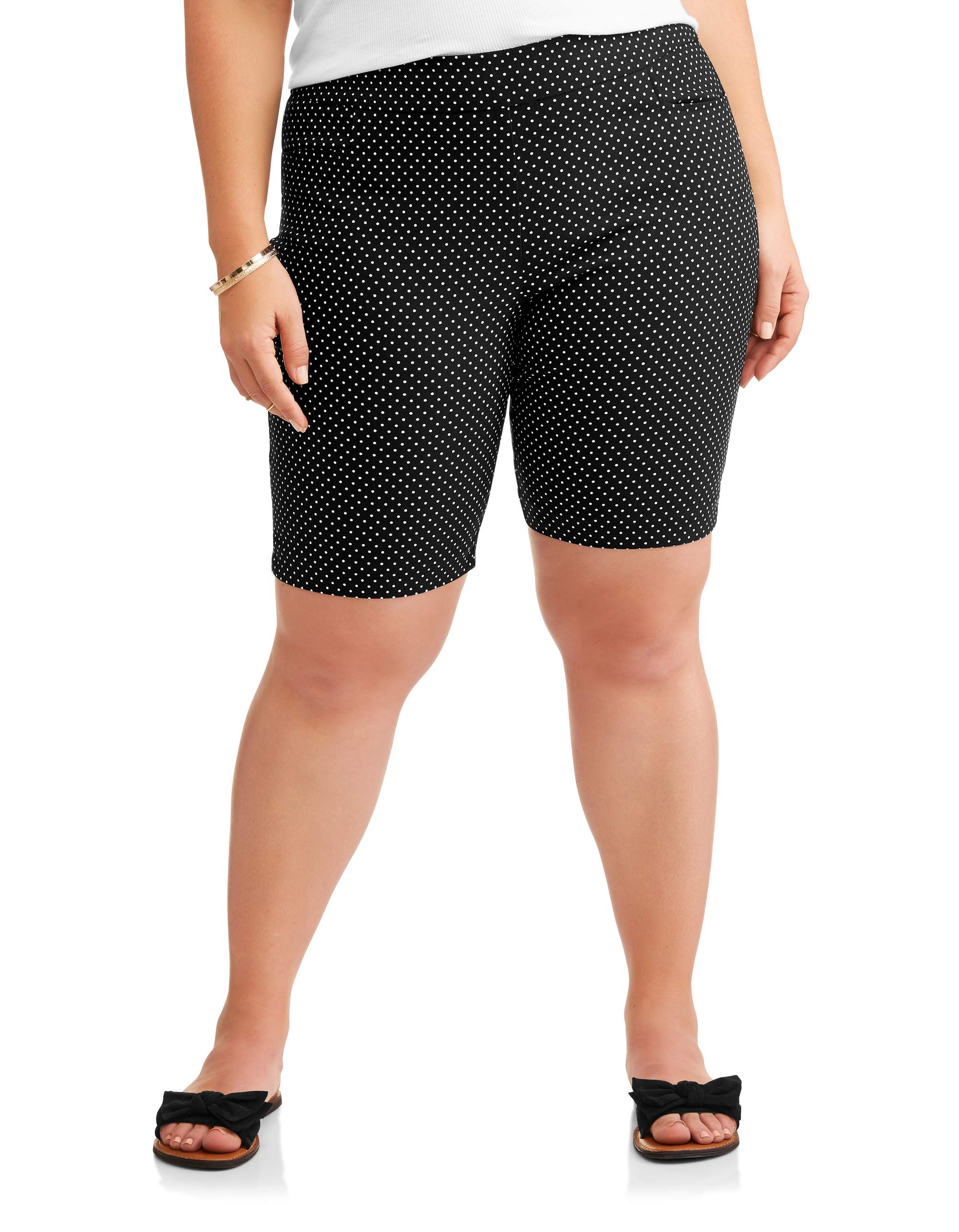 Terra & Sky Women's Plus Stretch Woven Bermuda Short