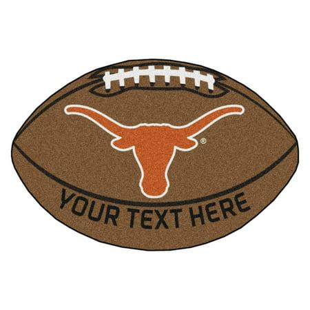 Personalized University of Texas Football Mat (Personalized Footballs)