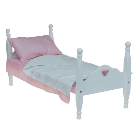 Swell American Style White Single Stackable Doll Bed Bedding Fits 18 Inch Girl Doll Furniture Home Interior And Landscaping Ologienasavecom