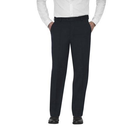Navy Cord Pants - Men's Microfiber Flat Front Dress Pants
