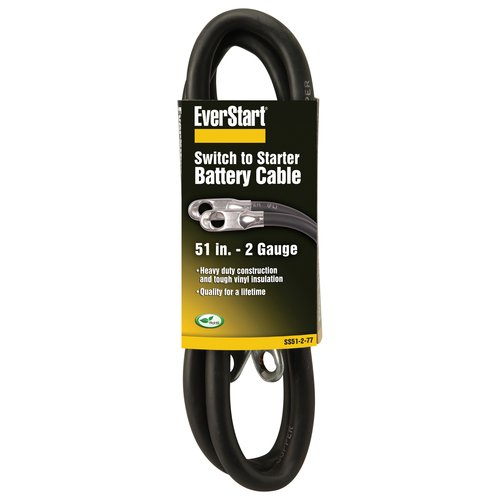Everstart SS51-2-77 4-Gauge Switch to Starter Battery Cable, 51-Inches