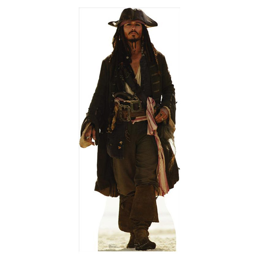 "Advanced Graphics 694 Capt Jack Sparrow- 72"" x 42"" Cardboard Standup"