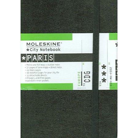 Moleskine City Notebook - Paris, Pocket, Black, Hard Cover (3.5 X 5.5)