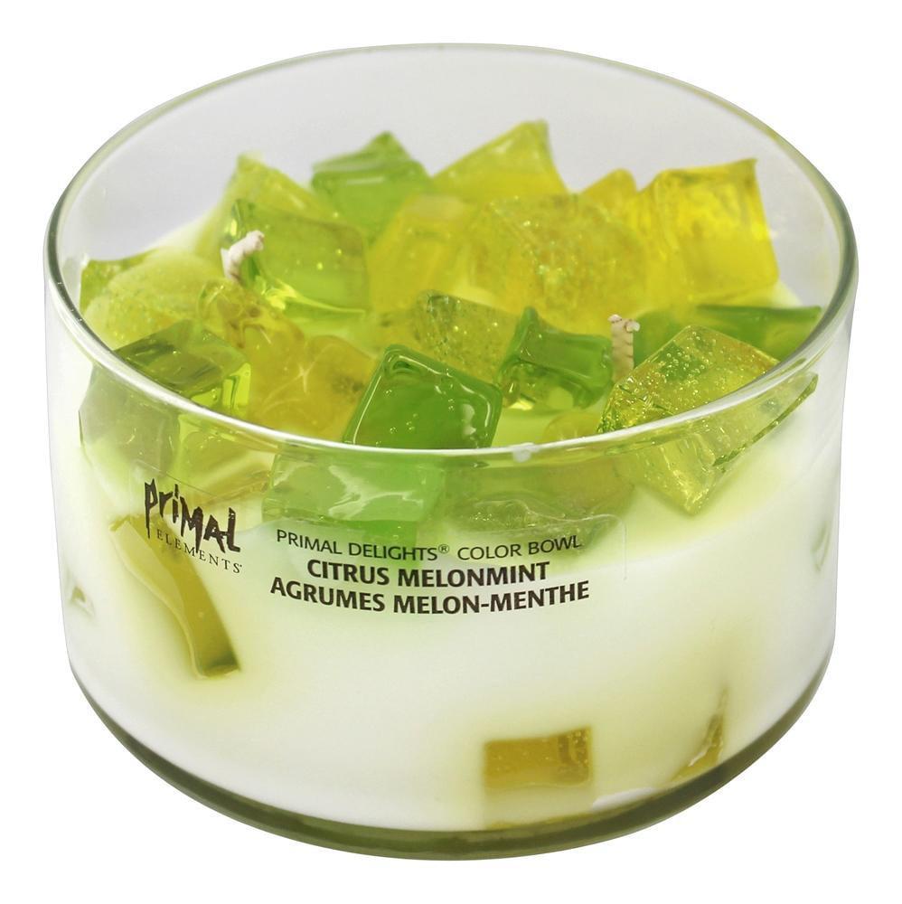 Primal Elements - Primal Delights Color Bowl Candle Citrus Melonmint