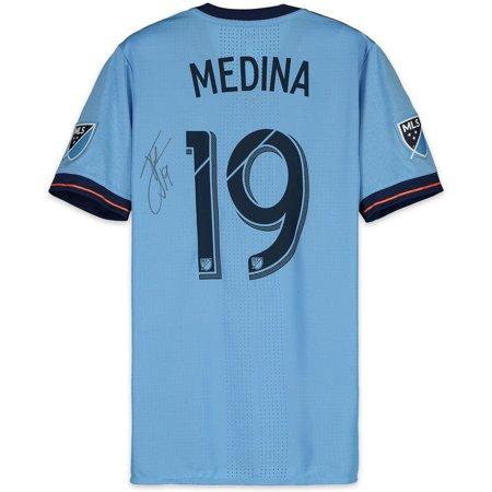 sports shoes 118ea c402a Jesus Medina New York City FC Autographed Match-Used Blue #19 Jersey vs.  Atlanta United FC on November 11, 2018 - Fanatics Authentic Certified - ...
