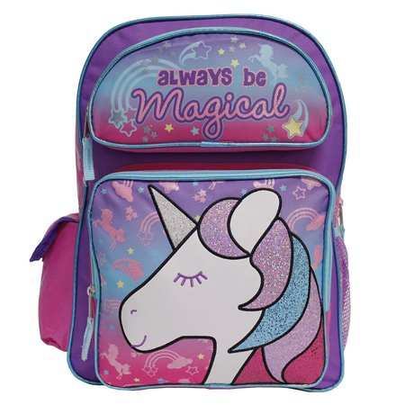 "Unicorn Large 16"" inches Backpack - Always Be Magical Girls Licensed with Tags"