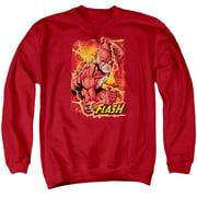 Jla - Flash Lightning - Crewneck Sweatshirt - Medium