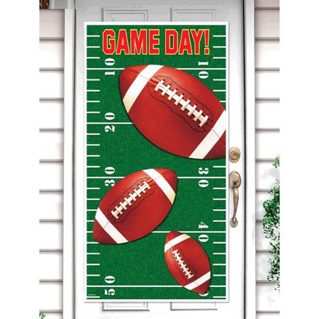 Football 'Game Day' Plastic Door Poster (1ct) (Football Poster Ideas)