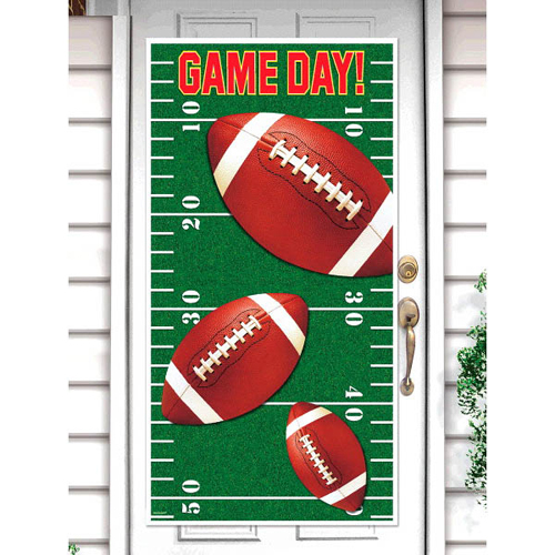Football 'Game Day' Plastic Door Poster (1ct)