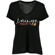 Phoenix Suns Peace Love World Women's Love You Mean It Mini Mimi V-Neck T-Shirt - Black