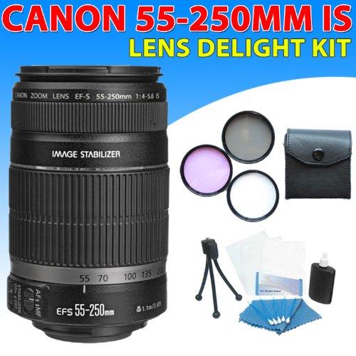 Zeemo Canon Ef-s 55-250mm F/4-5.6 Is Autofocus Lens Kit f...