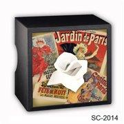 Caravelle Designs SC-2014 Paris Posters Square Tissue Boxes