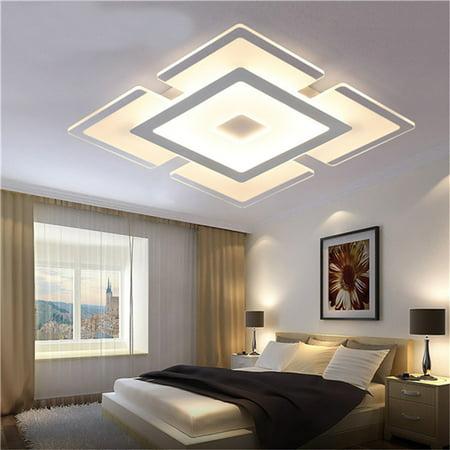 Meigar Rectangular Acrylic Modern LED Ceiling Light Living Room Bedroom Square Lighting Home Decor](Celing Decor)