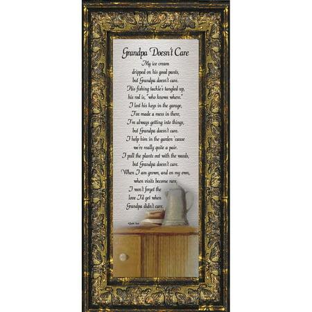Grandpa Doesnt Care Grandpa Gifts Grandpa Picture Frame 6x12