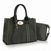 MKF Collection Elissa 3 pc Set Satchel Handbag with Pouch & Coin Purse by Mia K.
