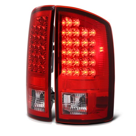 VIPMotoZ 2002-2006 Dodge RAM 1500 2500 3500 LED Taillights Taillamps, Driver and Passenger Side
