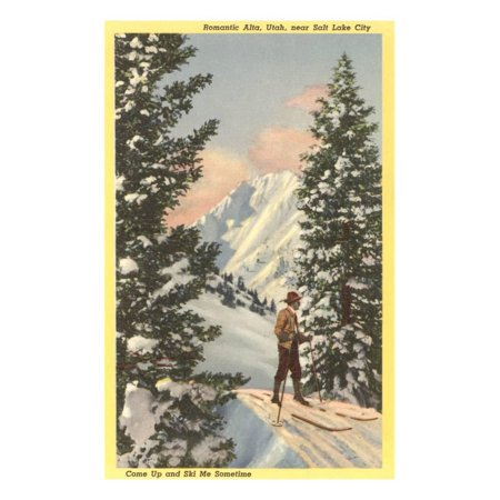 Alta Ski Resort, Salt Lake City, Utah Print Wall Art - Party City Salt Lake City