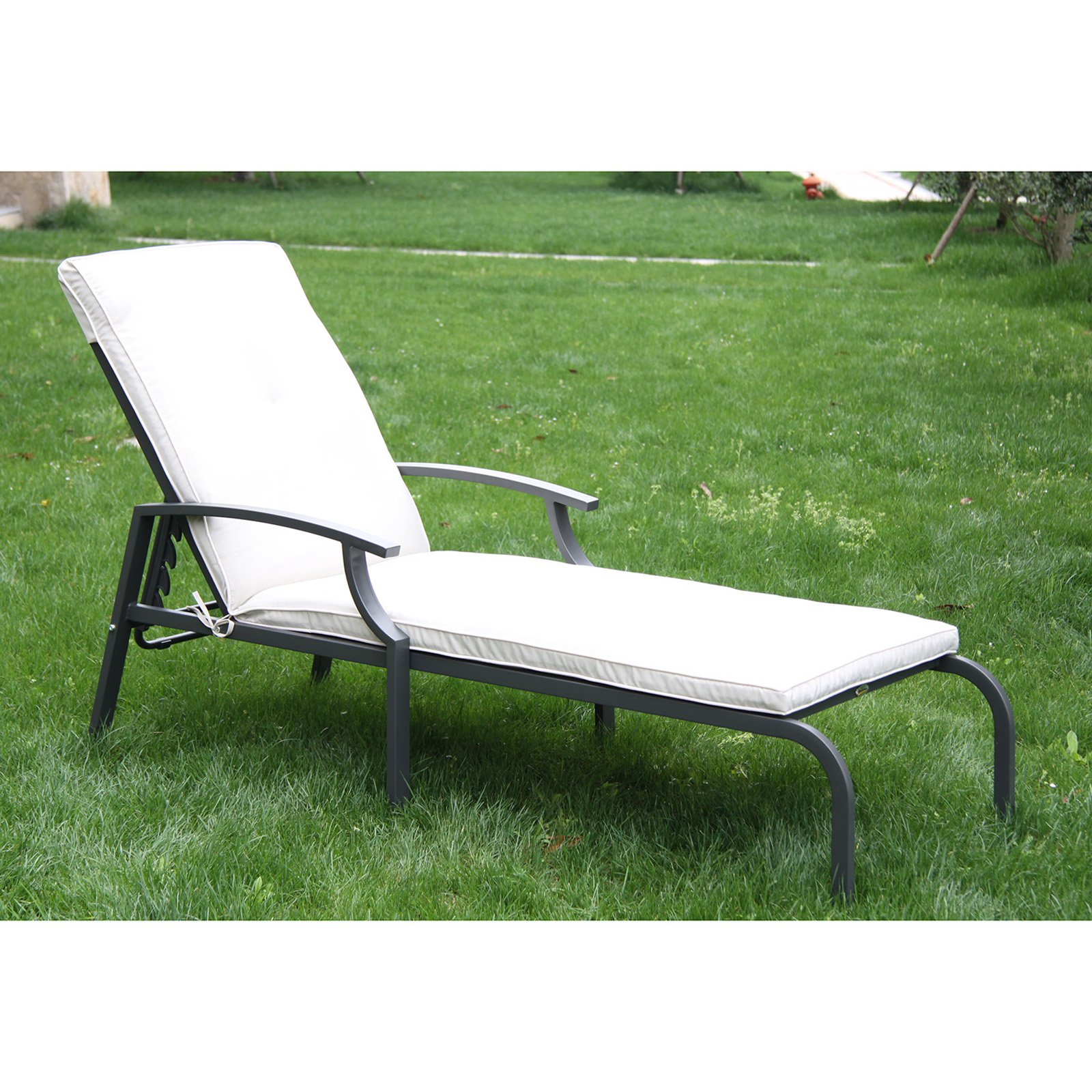 Outsunny Adjustable Chaise Lounge Patio Chair by Aosom