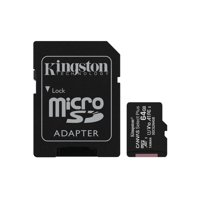Kingston 64GB Canvas Select Plus microSD 100MB/s Read A1 Class 10 UHS-I Memory Card + Adapter (SDCS2/64GB)