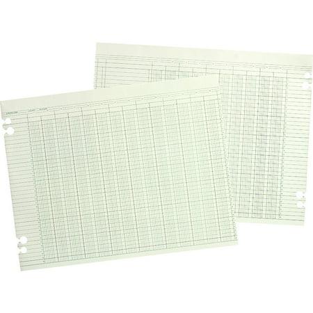 Wilson Jones Account Book - Wilson Jones, WLJG1024, Prepunched Ledger Paper Sheets, 100 / Pack