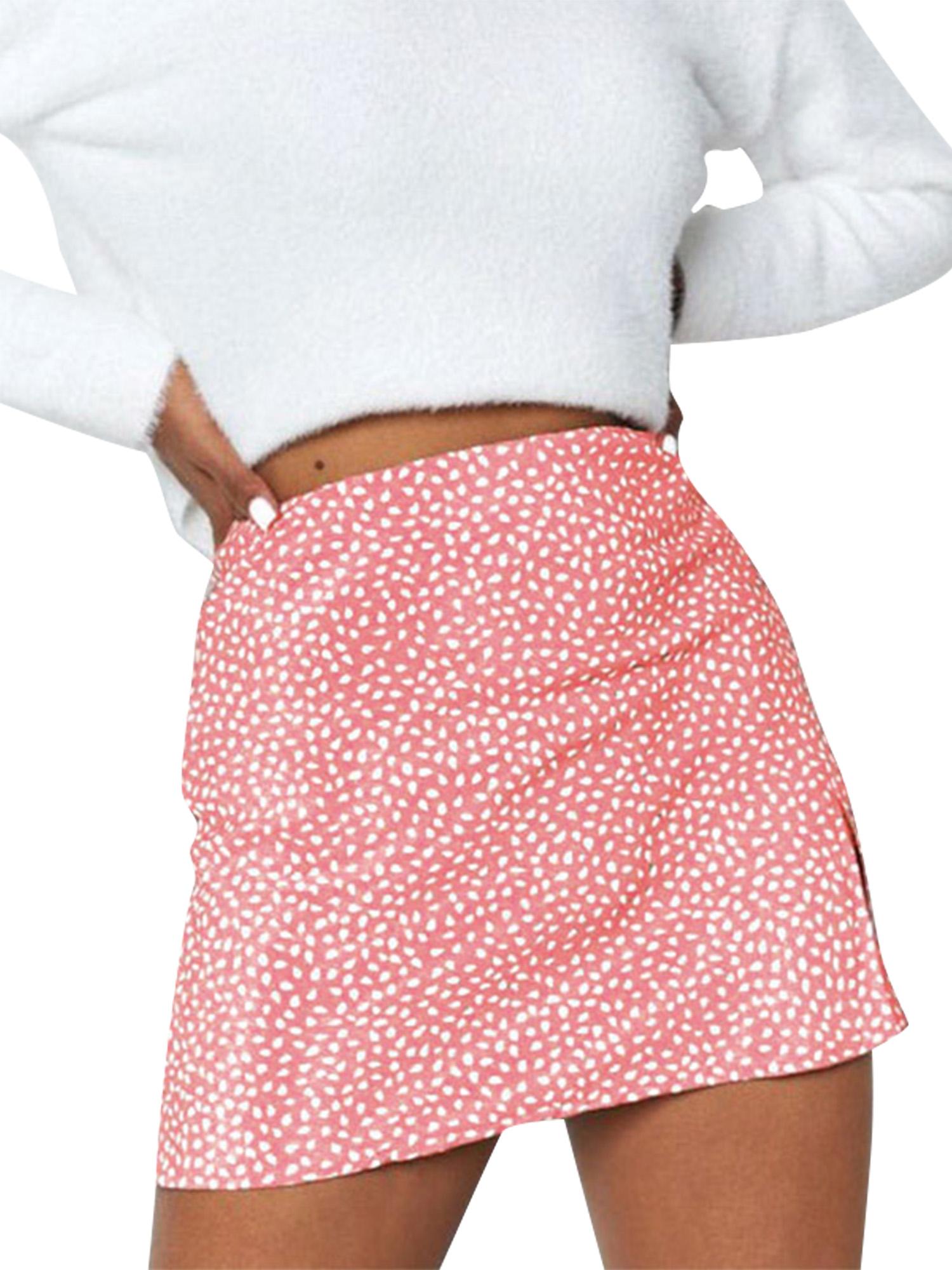 Mini skirts loose Sexy Dance Women High Waist Tie Dye Leopard Printed A Line Skirts Summer Loose Mini Skirt Walmart Com Walmart Com