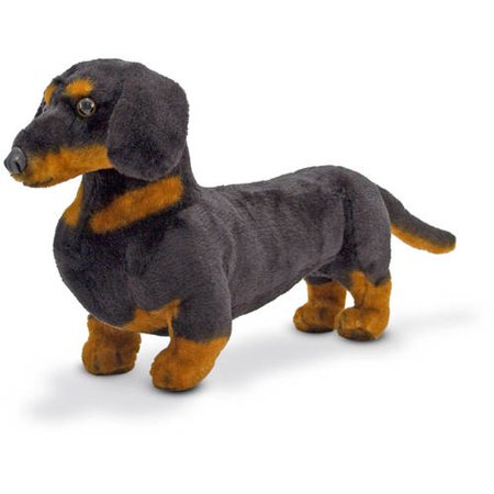 Melissa & Doug Giant Dachshund, Lifelike Stuffed Animal Dog