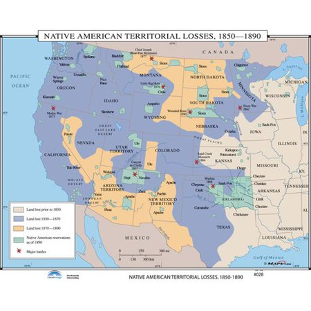 Universal Map Us History Wall Maps Native American Territorial - Map-of-the-us-in-1890